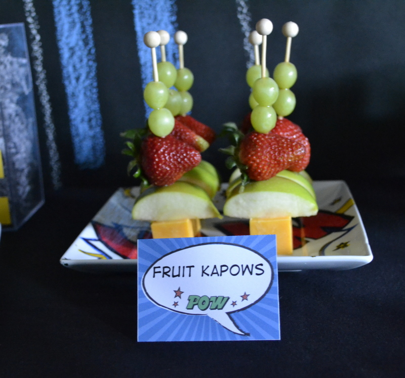 Super Dad Father's Day Luncheon fruit kabobs