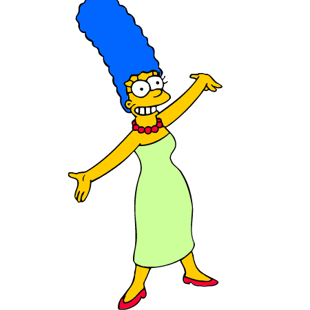 Pages Marge Simpson Para Pintar Colorear Imprimir Recortar Y Pegar