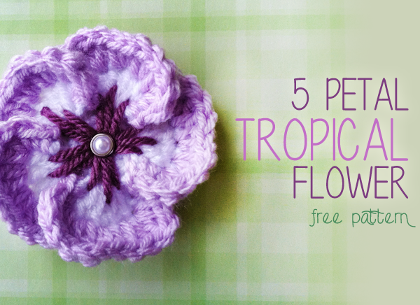 free crochet pattern tropical flower