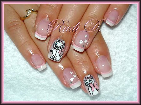 Disney Nail Art - Cat