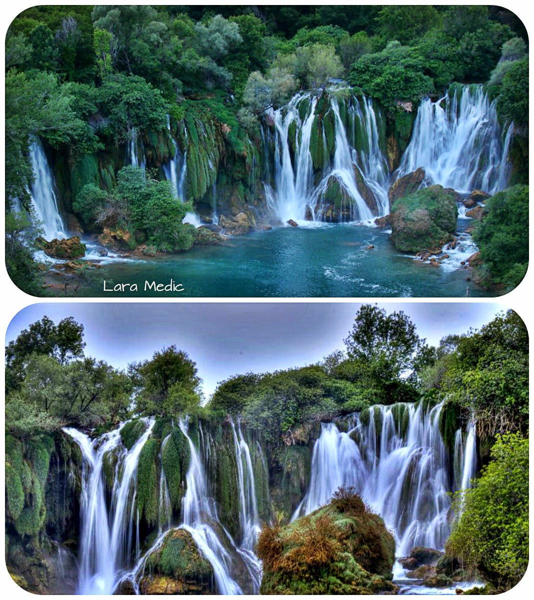 Natural wonders waterfalls in Bosnia