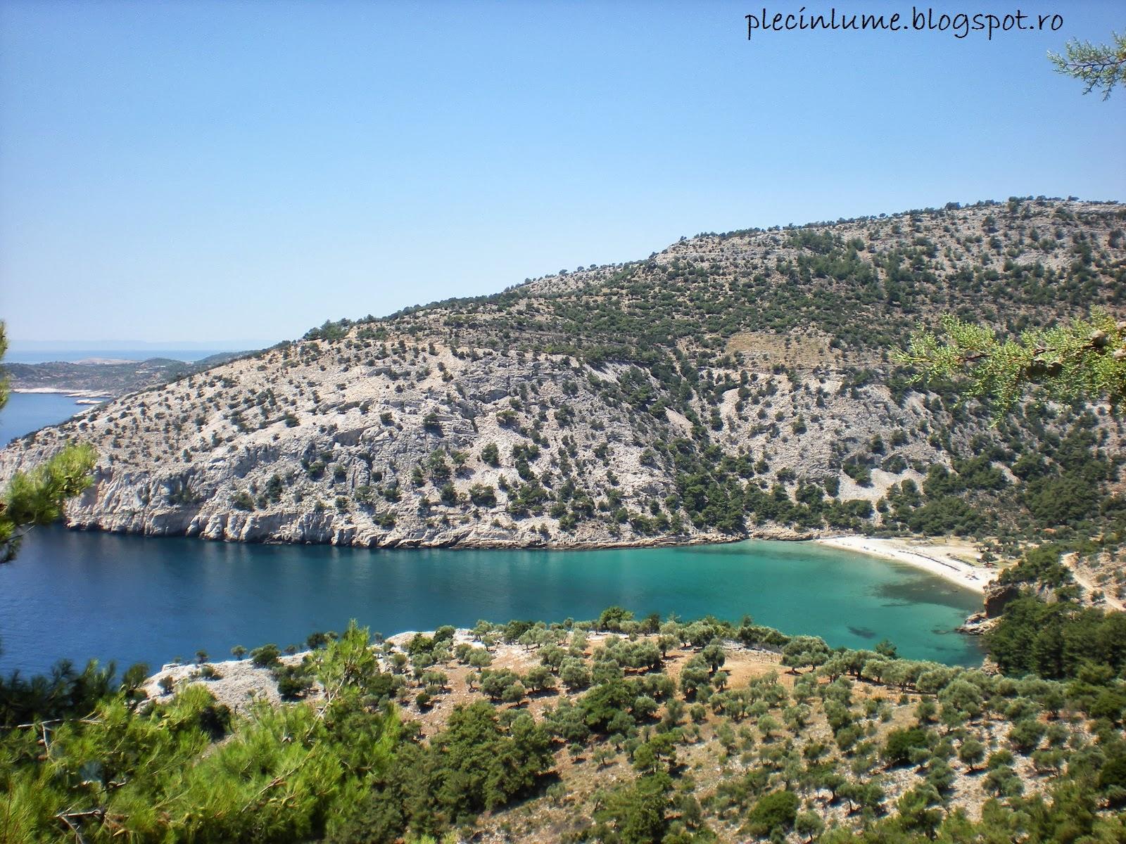 Relief arid in Thassos