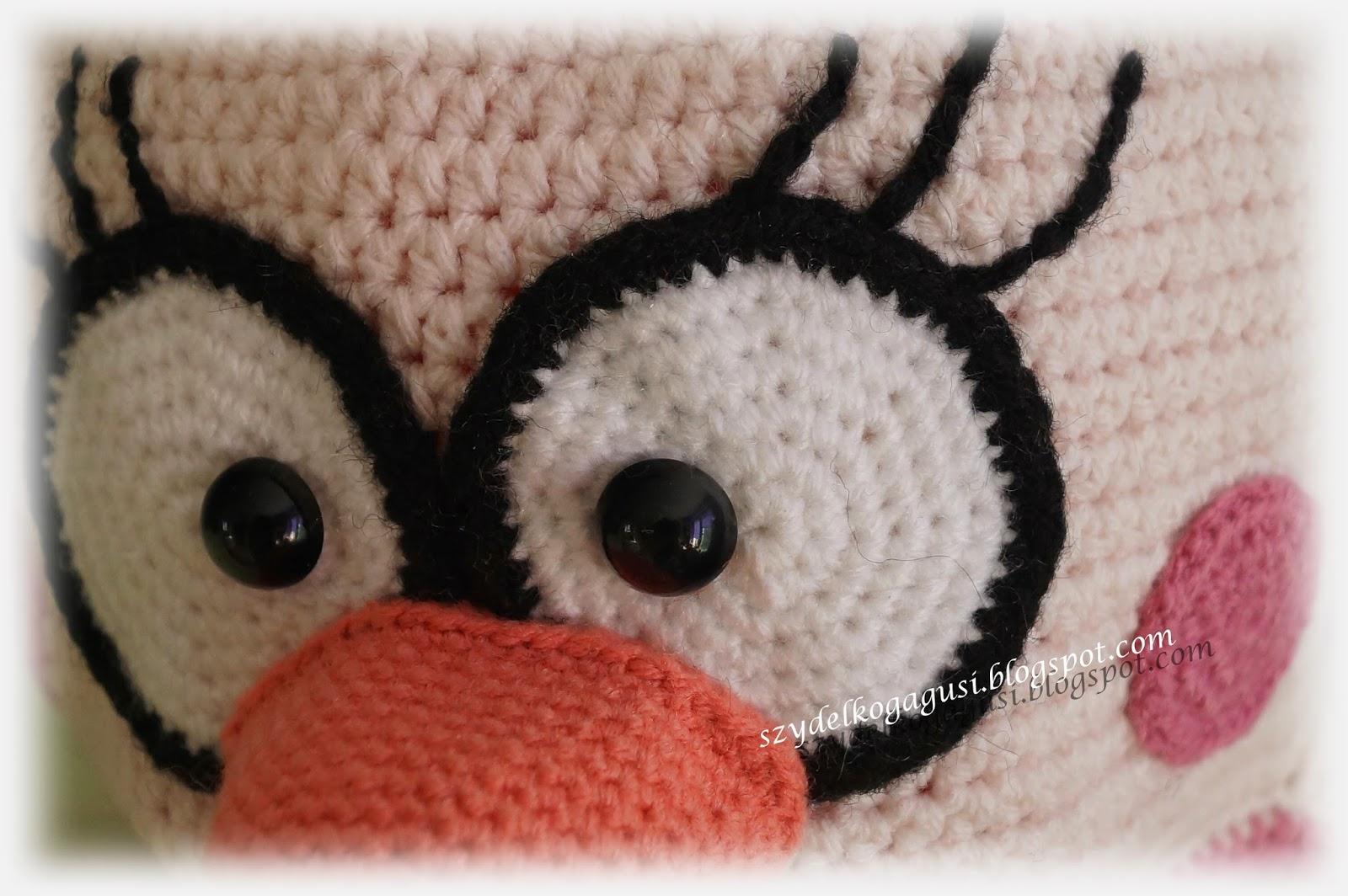 szydełkowa czapka angry birds matylda