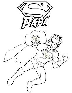 dibujos de super papá para colorear del día del padre