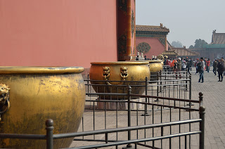 Fire water cauldrons in the Forbidden City