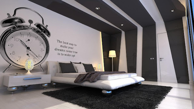 DORMITORIO CON RELOJ DESPERTADOR the best way to make your dreams come true is to wake up