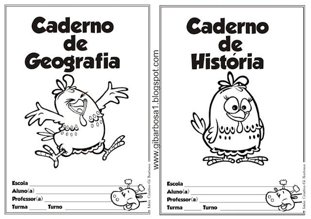 Capas de Caderno Galinha Pintadinha para Colorir