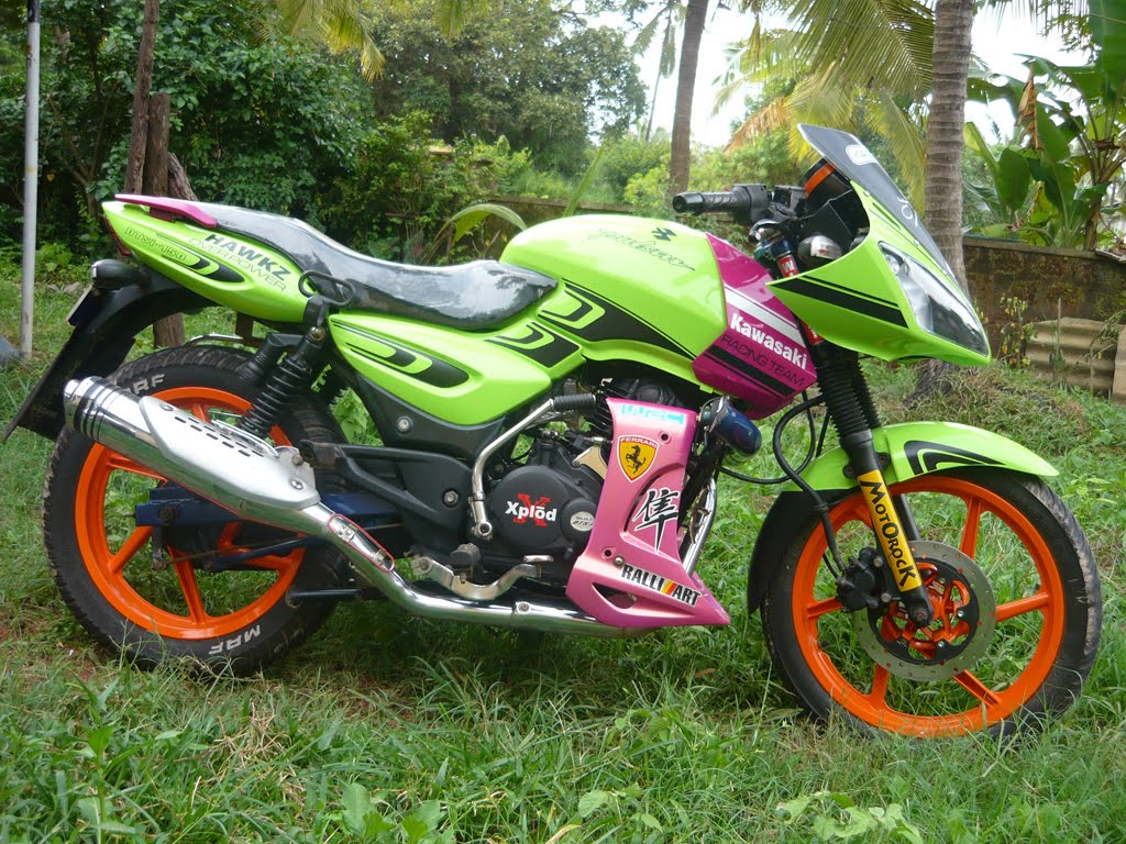 modified motor bikes pictures modified pulsar bike by