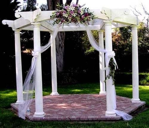 2015 outdoor wedding decorations ideas for Outdoor wedding gazebo decorating ideas
