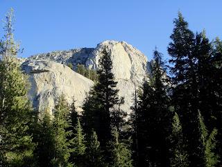 Mariuolomne Dome, Yosemite National Park.  Hobbit Book is the huge crescent-shaped corner that splits the dome.  Photo credit: Summitpost.org.