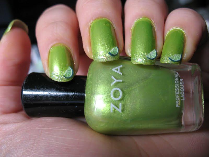 Moondancerjen\'s Nails: Margarita Inspired NOTD