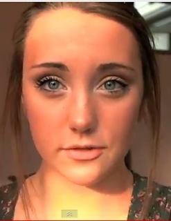 high school makeup style