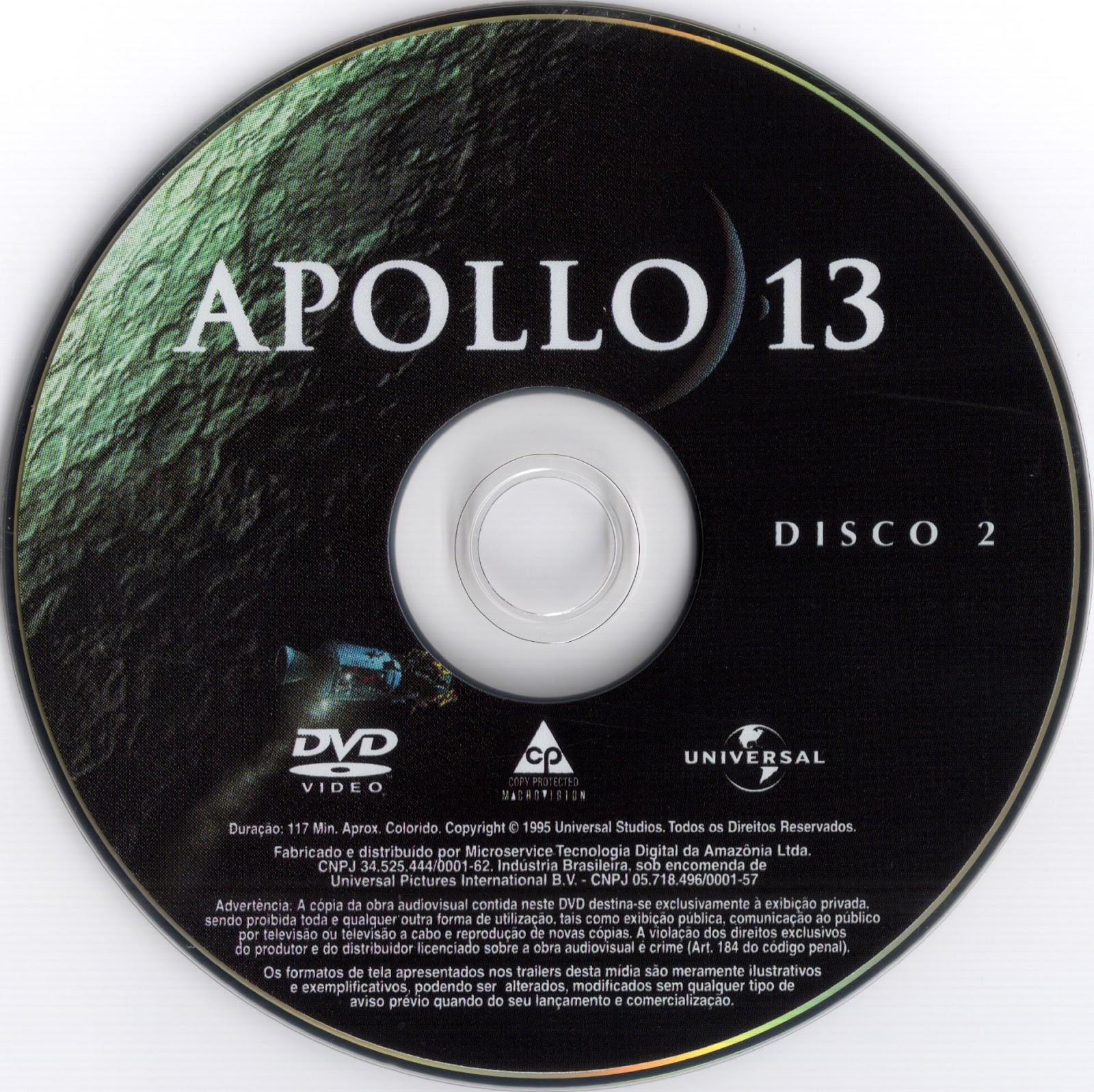 Label DVD Apollo 13 Disco 2