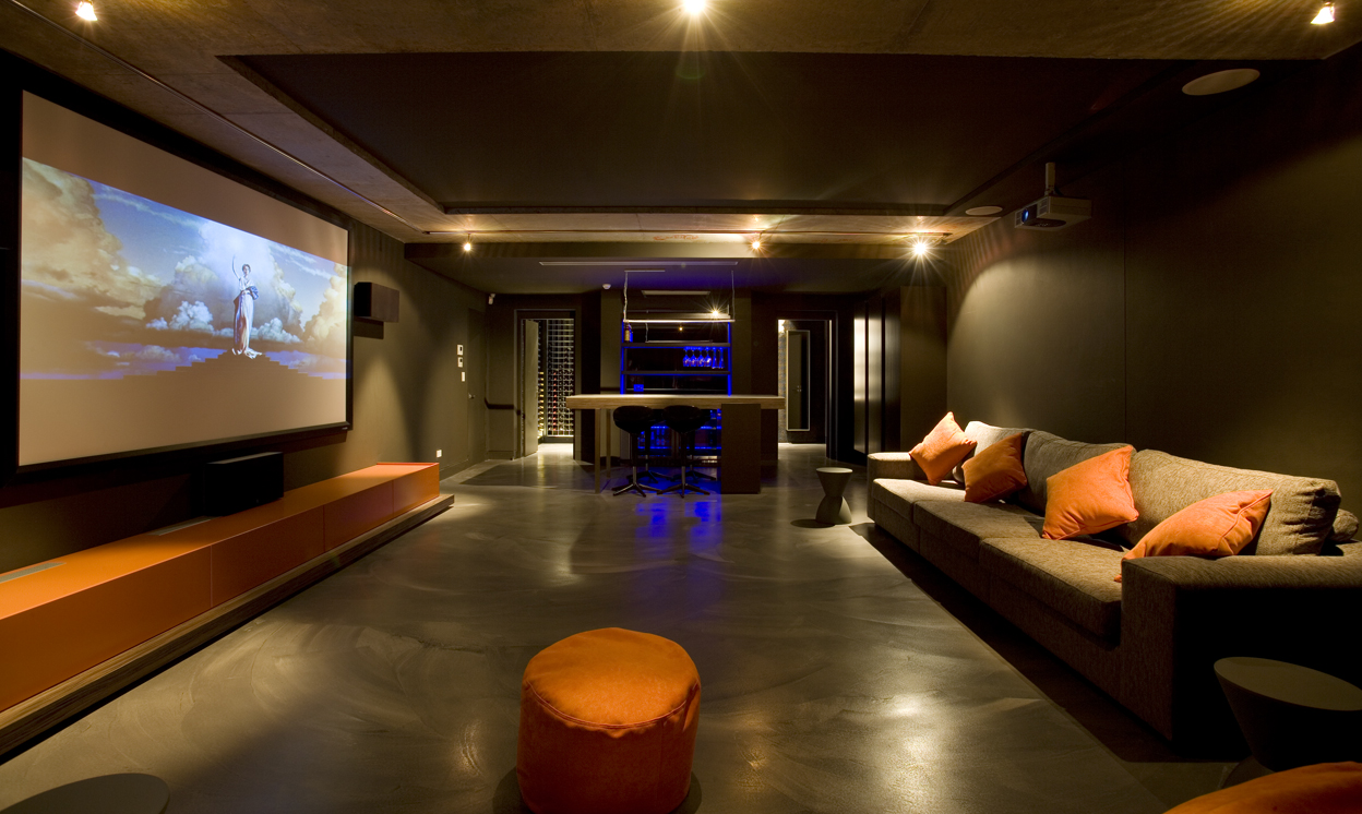 Minosa the centre of attention the modern home theatre by minosa design - Home entertainment design ...