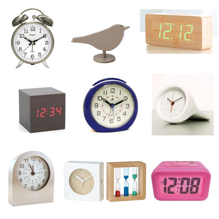Parade of modern alarm clocks for Designer alarm clock