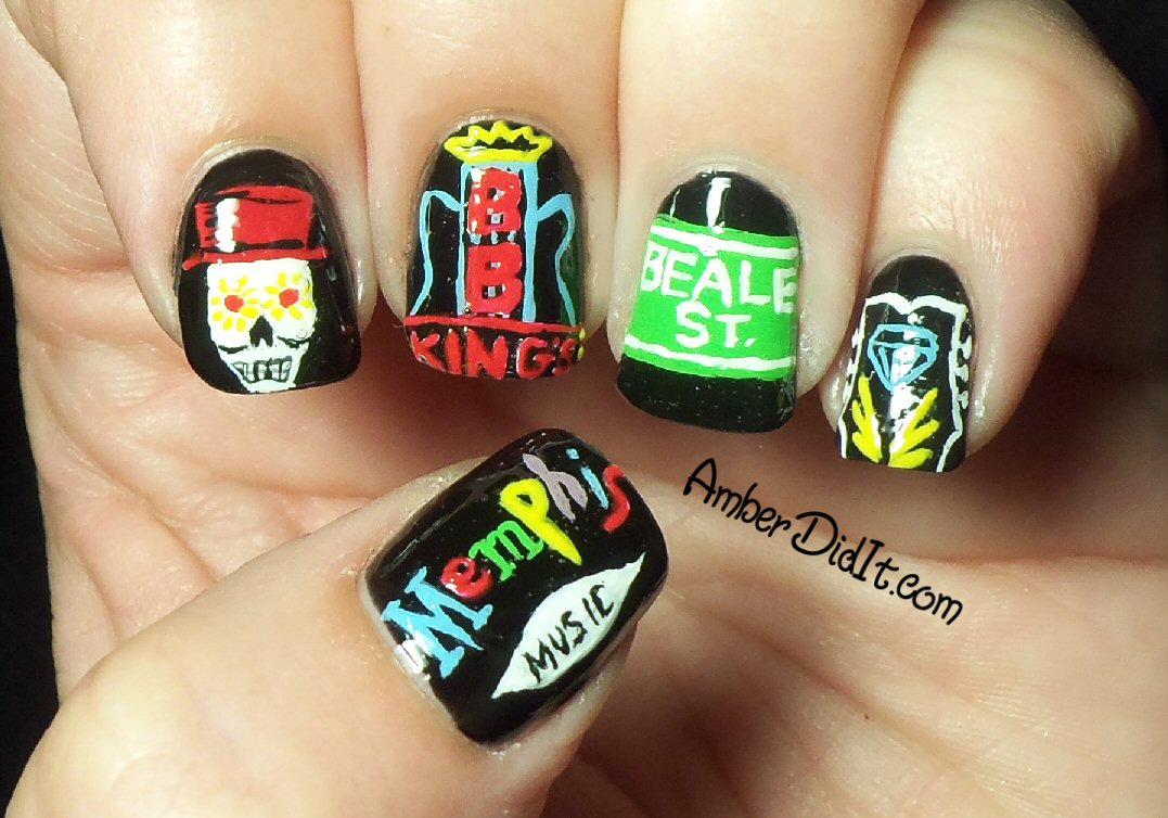 Amber did it!: Beale Street Inspired Nail Art