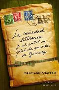la sociedad literaria y el pastel de piel de patata de Guensey