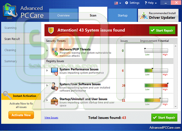 Advanced PC Care - Virus