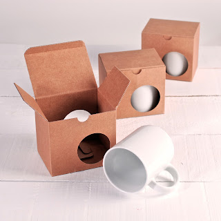 Boîte pour tasses dimensions standards, selfpackaging, self packaging, selfpacking