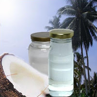 Coconut and 2 bottles of coconut oil