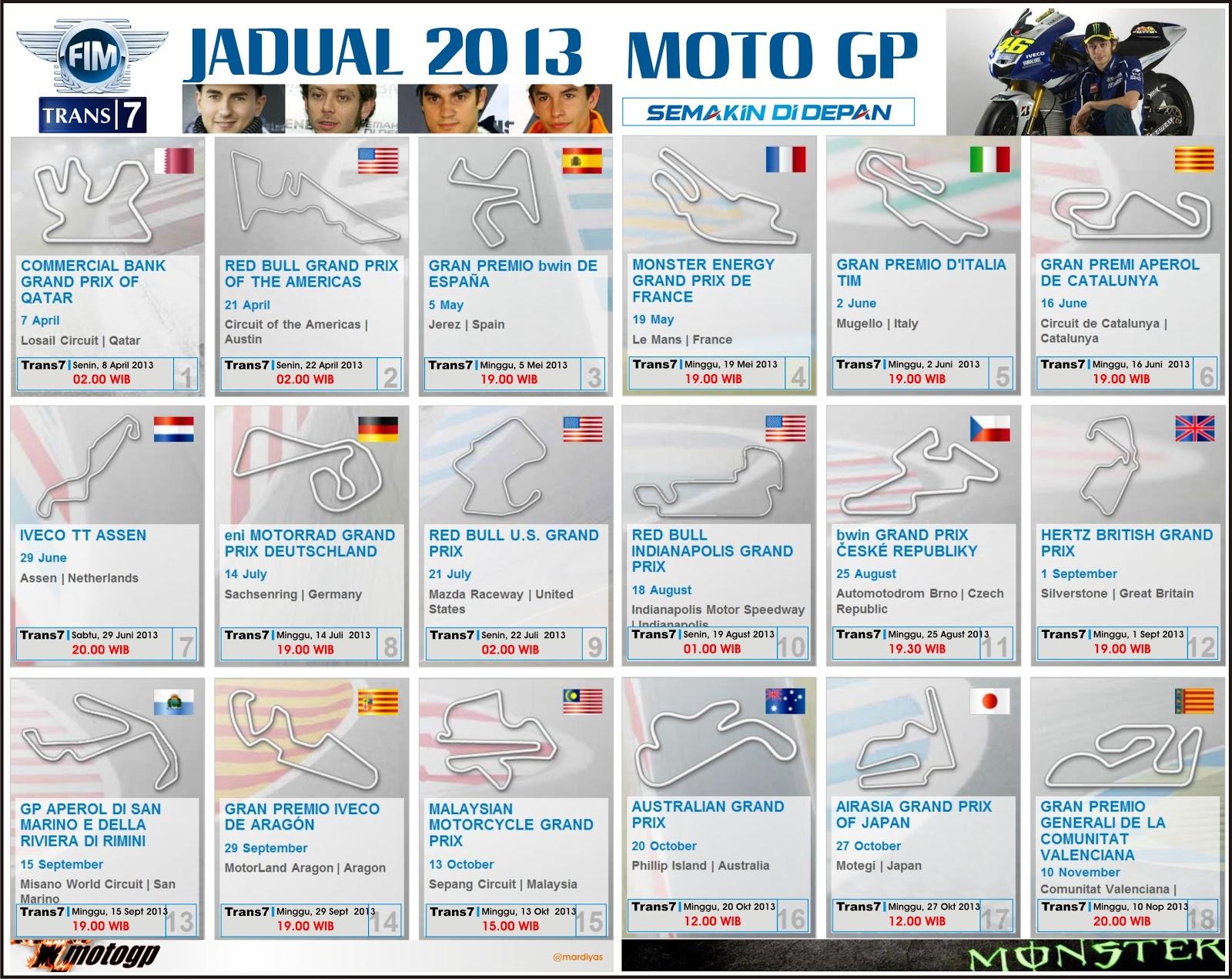 Jadual Motogp 2013 Lengkap Trans7 Tik Sma 4 Jember