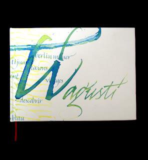 bookbinding, encuadernació, tre calligraphy, italic script, cal·ligrafia, calligraphy, carles gonzalez,