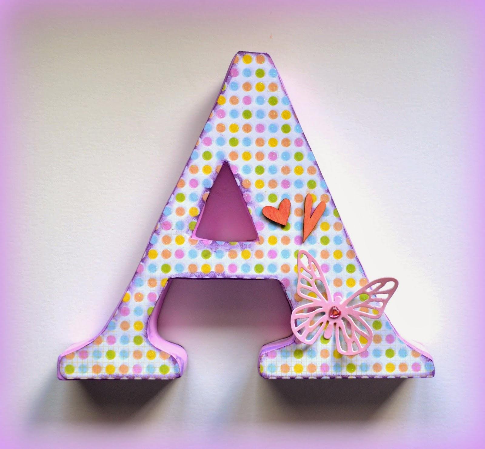C mo hacer letras decorativas de cart n ahora m s f cil - Como hacer letras decorativas ...
