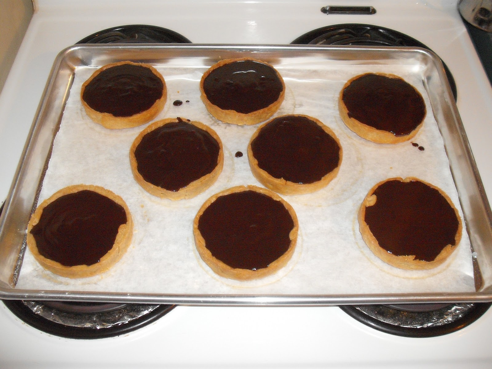 Te Toroa: the wandering albatross: Chocolate Ganache Tarts