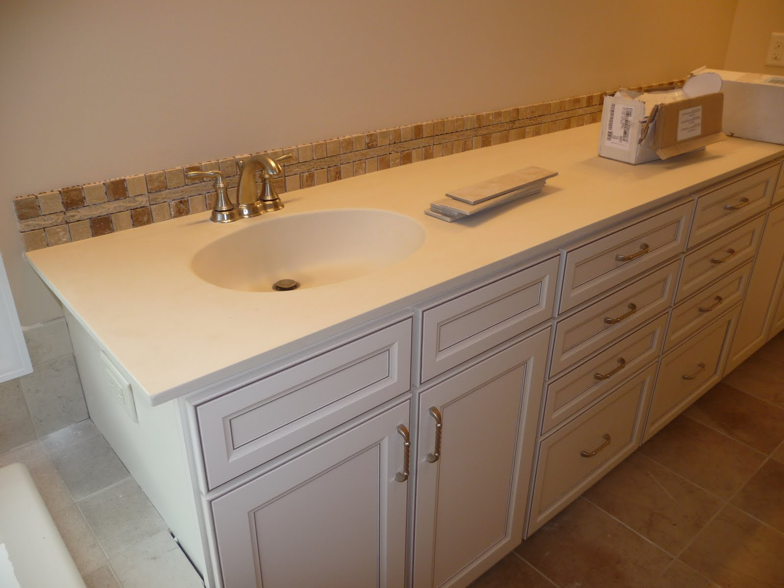 Moving on up to maple grove minnesota june 25th part 3 for Bathroom backsplash ideas