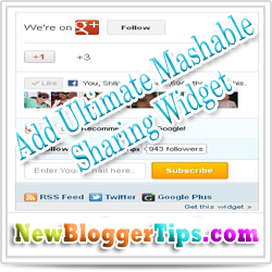 Add Ultimate Mashable Sharing Widget With Google+ Add To Circles