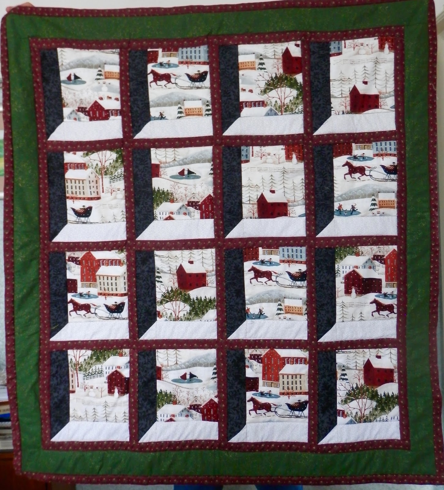 Jozart attic window quilt malvern show for Window quilt