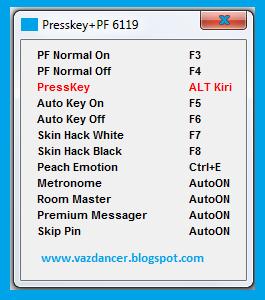 Cheat Presskey CFS + Hack PF AyoDance V6119