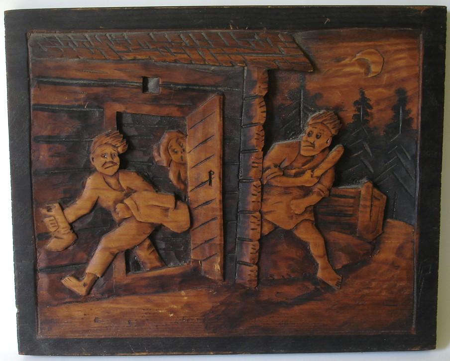 Blue starr gallery finnish high relief wood carvings of sauna