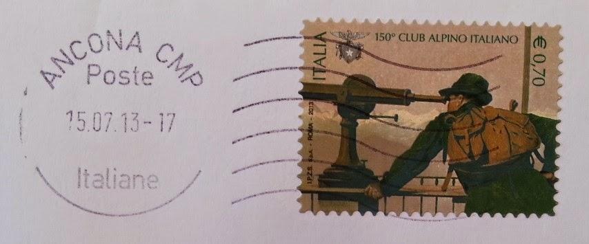 francobollo Club Alpino Italiano 150° anniversario