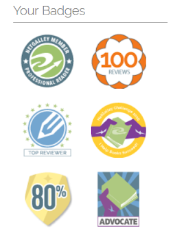 NetGalley badges