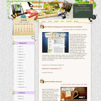 Hasslefree Switzerland Holiday blogger template from wordpress. travel blog template. template blog from wordpress. travel blog template. template travel for blogger. travel template for blog. sport template for blog