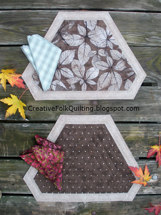 Quilt Sew Chic: Simple Elegance Table Fashions Placemat Pattern