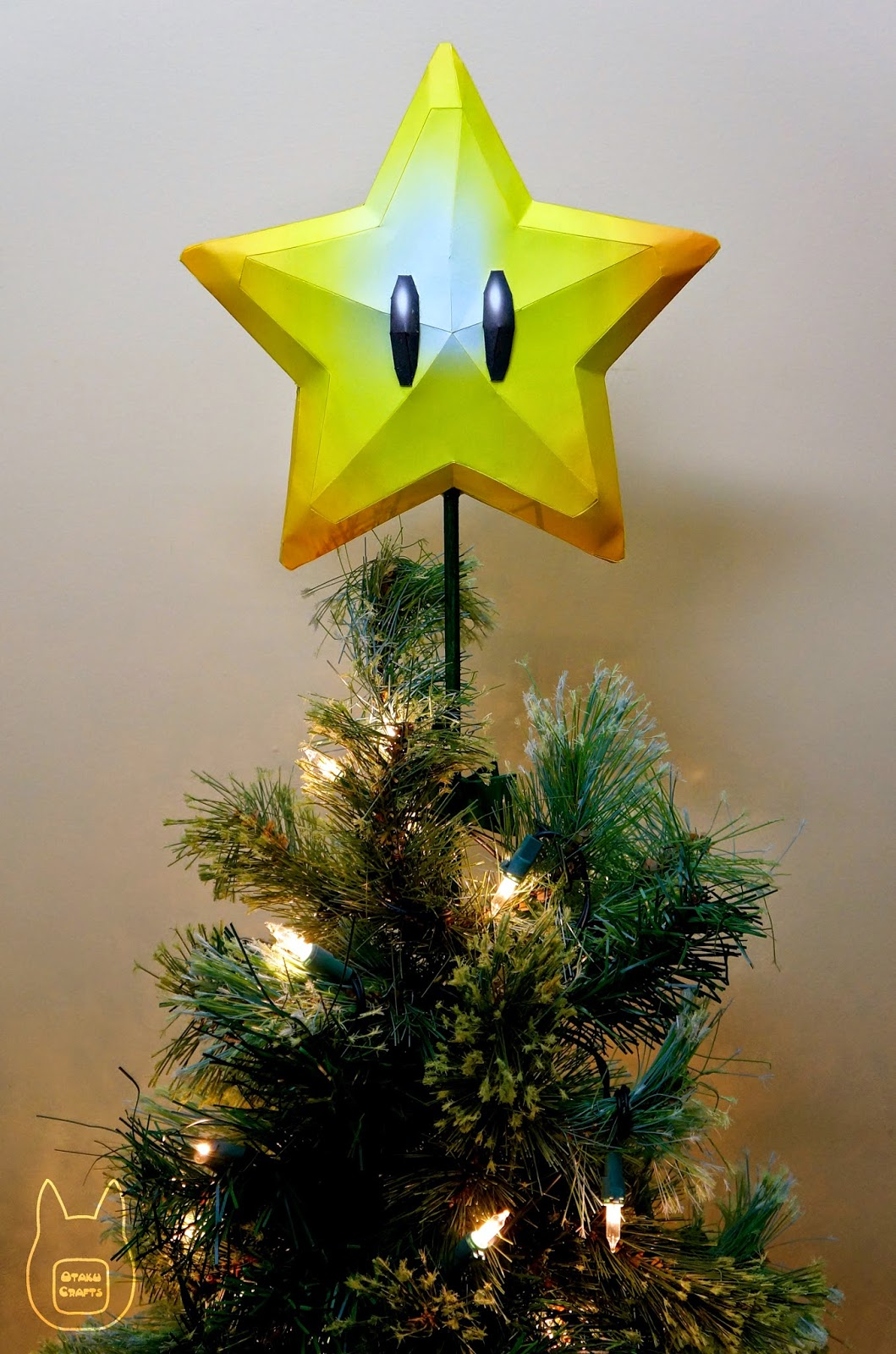 Super star christmas tree topper papercraft paperkraft