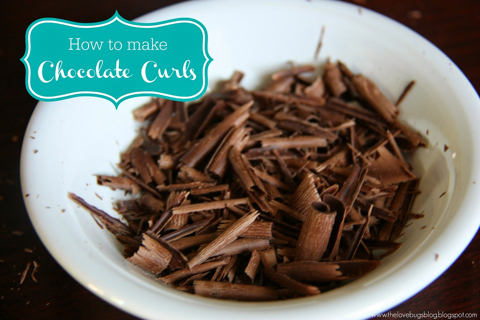 how to make chocolate shavings