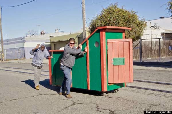 I've Seen People Turn Garbage Into Some Cool Stuff. But THIS…. This Is Absolute Brilliance. - the little homeless homes are about the size of the sofa