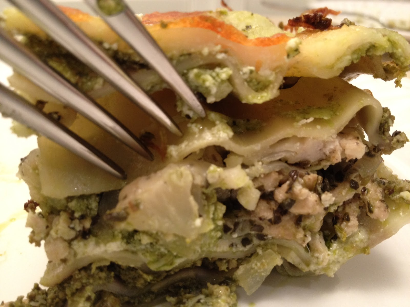 The Full Plate Blog: turkey-cauliflower lasagna made with power greens ...