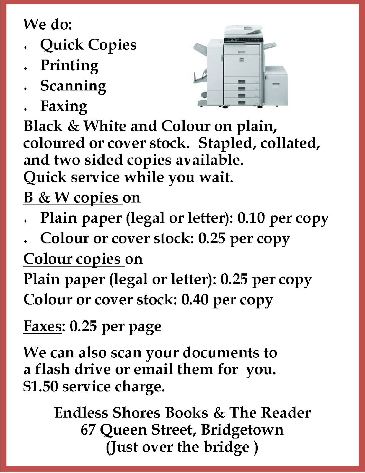 Copy/Fax Service