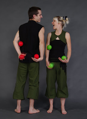 Since they started collaborating in 2010 Bri and Brian have been wowing audiences with their fun, high energy juggling acts. They are currently living and training at the Vulcan Studios in Oakland California where they try to find new ways to share their juggling with each other and with the world.