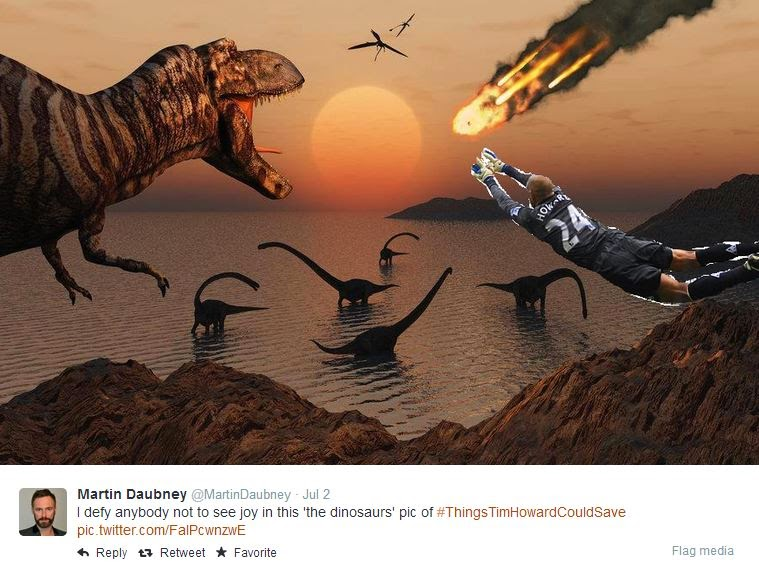 Tim Howard saves the dinosaurs