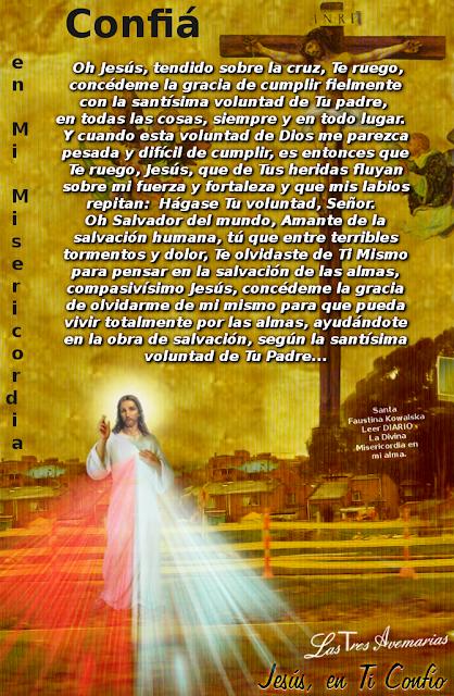 jesus ayudame en todo porfavor...santa faustina ayudame