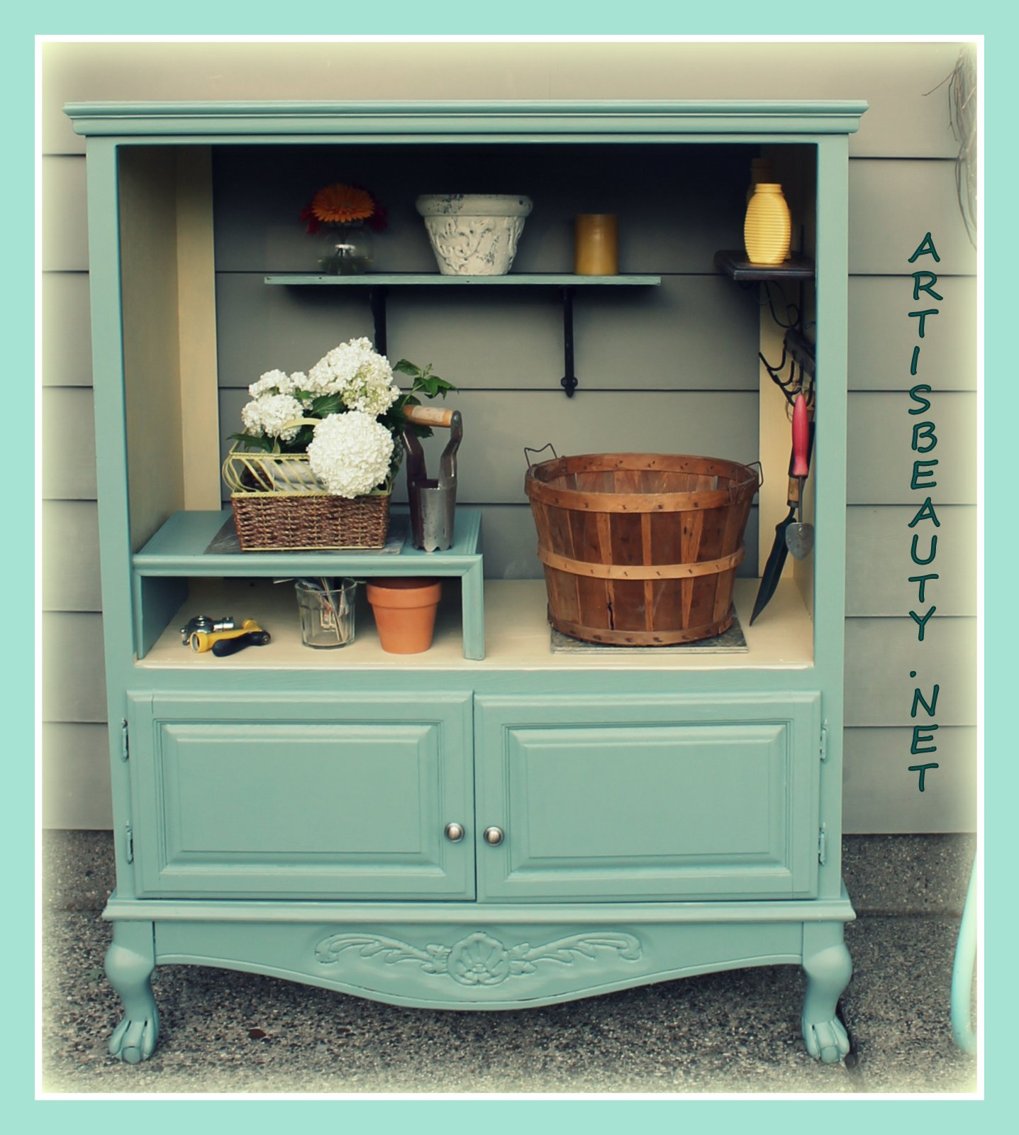 Art Is Beauty Free Armoire Turned Into Outdoor Garden