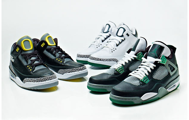 "Air Jordan III & IV ""Oregon Ducks"" Kollektion"