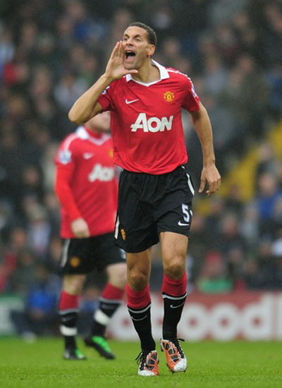 Rio Ferdinand Centre Defender Manchester United Photos 2011-2012