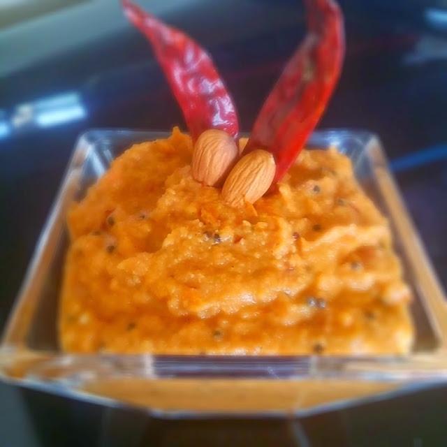 Chutney Dosa with Tomato & Almond chutneyCondiments South Indian