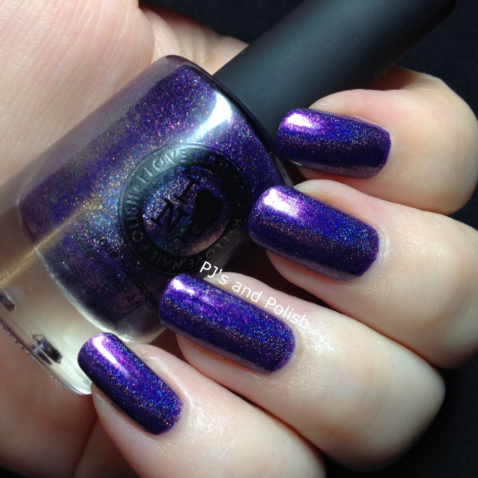 Swatch and Review ILNP Purple Plasma Holo Shimmer Sparkle HK Girl Lilypad Lacquer Vixens Wear Violet